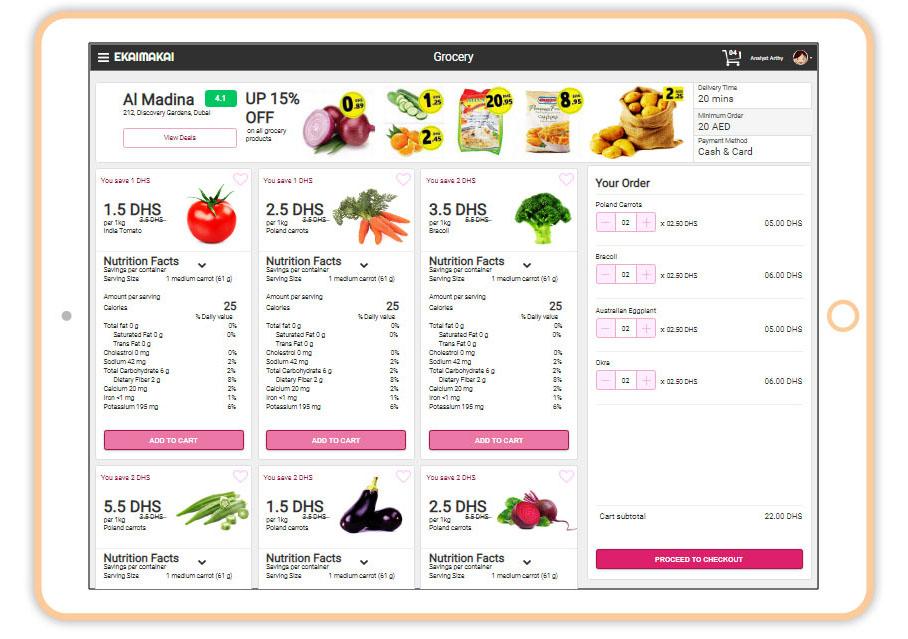 Grocery online ordering app